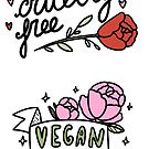 Vegan - cruelty free stickers pack by nevhada