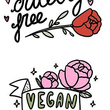 Vegan - Grausamkeitsfreies Aufkleberpaket von nevhada