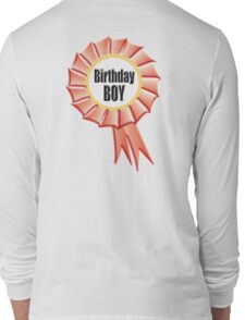 GIFT, PRESENT, Birthday Boy, Happy Birthday, Red Rosette Long Sleeve T-Shirt