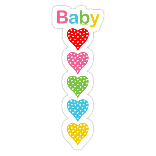 Baby Hearts - colorful by Andi Bird
