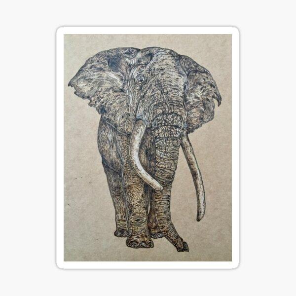 Elephant - stand tall  Sticker