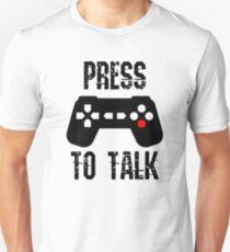 Camiseta unisex Presione para hablar