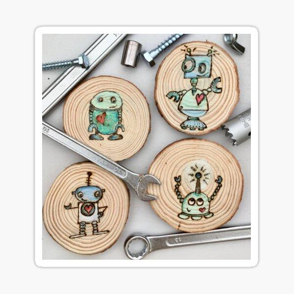 mini robots  Sticker
