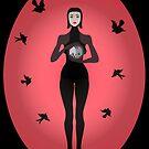 Lilith mit Totenkopf und Schwalben von Lilith  Zazz