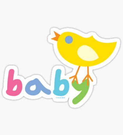 Baby and chick t shirt onsie  Sticker