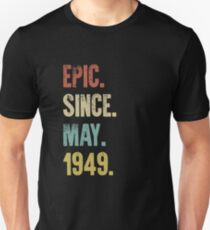 Retro Vintage 70th Birthday Epic Since May 1949 Slim Fit T-Shirt
