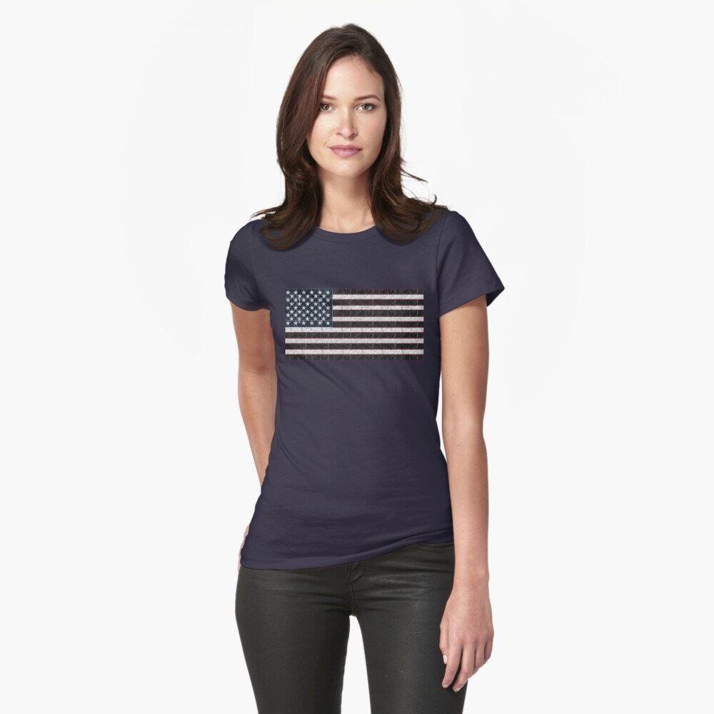USA American Flag Art  Fitted T-Shirt
