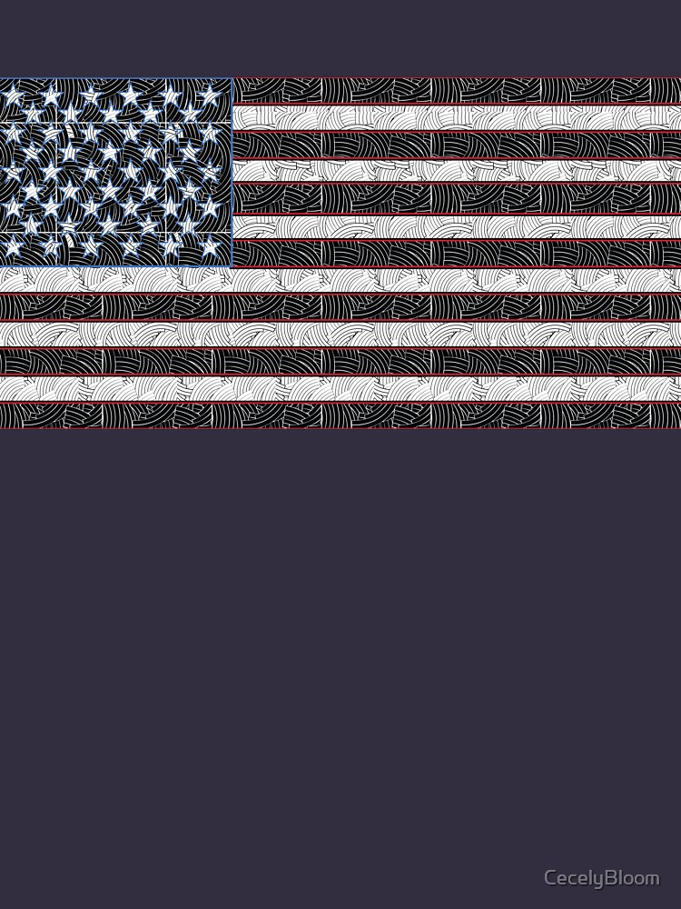 USA American Flag Art  by CecelyBloom
