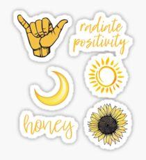 Gelbes Sticker Pack Sticker