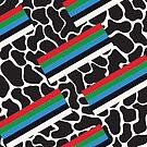 «Retro 80s 90s Casete de cinta Memphis Chill Pattern» de bitart