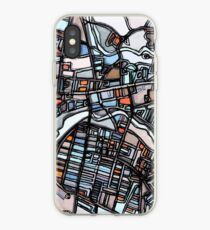 ABSTRACT MAP OF WALTHAM MA iPhone Case