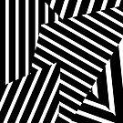 «Triángulos de rayas blancos y negros modernos de mediados del siglo retro» de bitart