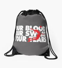 Girls Volleyball Our Blood Our Sweat Yor Tears Gift Drawstring Bag