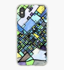 ABSTRACT MAP OF STATE COLLEGE, PA iPhone Case