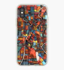 ABSTRACT MAP OF SAN ANTONIO, TX iPhone Case
