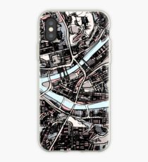 ABSTRACT MAP OF PITTSBURGH, PA iPhone Case