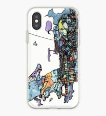 ABSTRACT MAP OF NEWPORT, RI iPhone Case