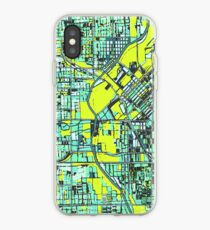 ABSTRACT MAP OF DENVER, CO iPhone Case