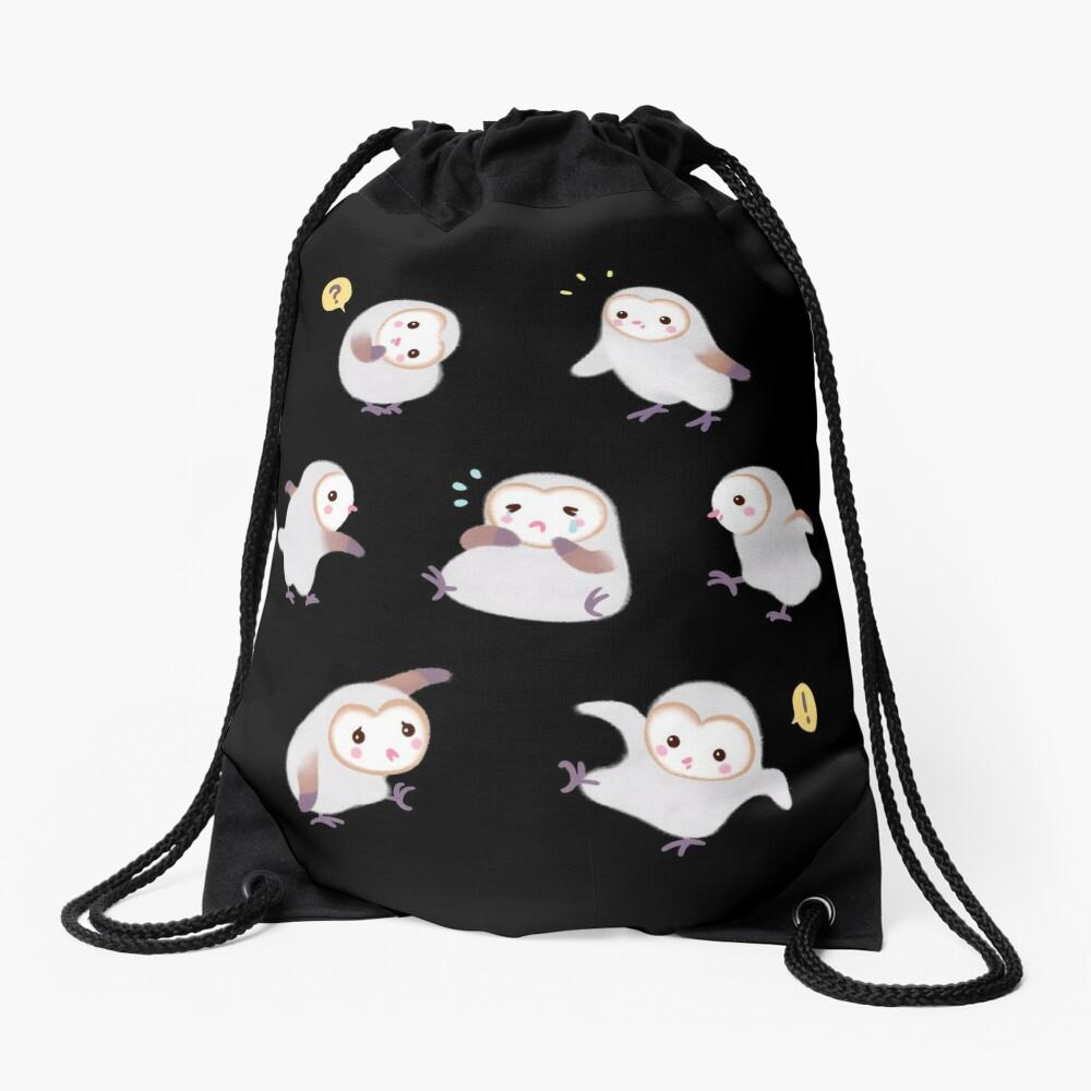 Baby barn owls Drawstring Bag