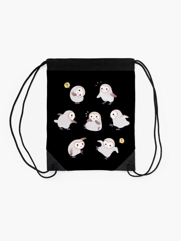 Alternate view of Baby barn owls Drawstring Bag
