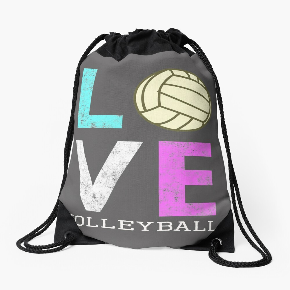 Awesome Girls & Womens Volleyball Gift They LOVE Volleyball Drawstring Bag