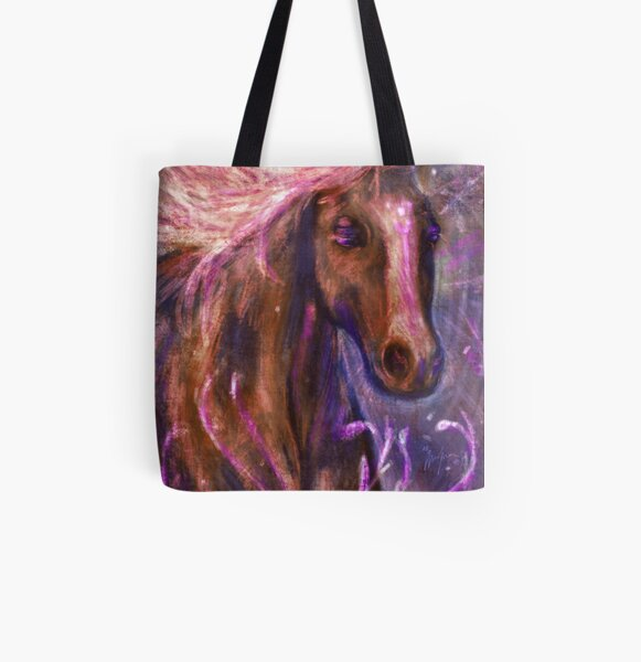 Enchanted Horse All Over Print Tote Bag
