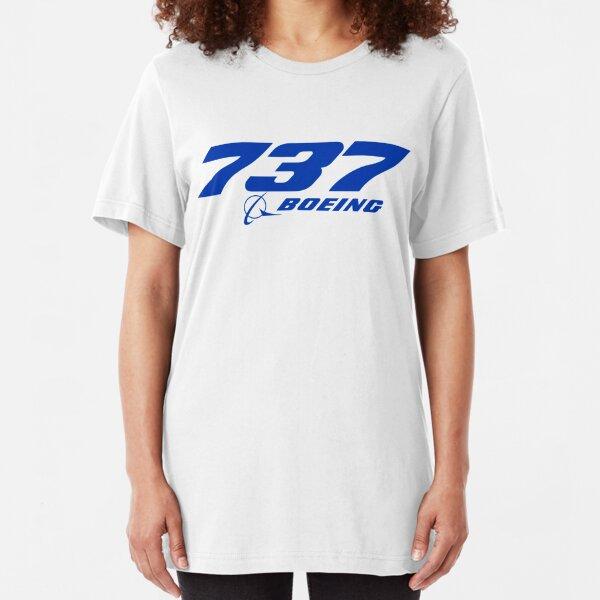 Boeing 737 Logo Slim Fit T-Shirt