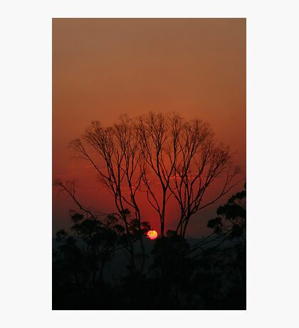 Bushfire Sunset Photographic Print