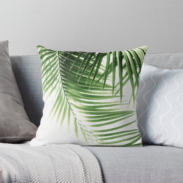 Palm Leaves Green Vibes #9 #tropical #decor #art Throw Pillow