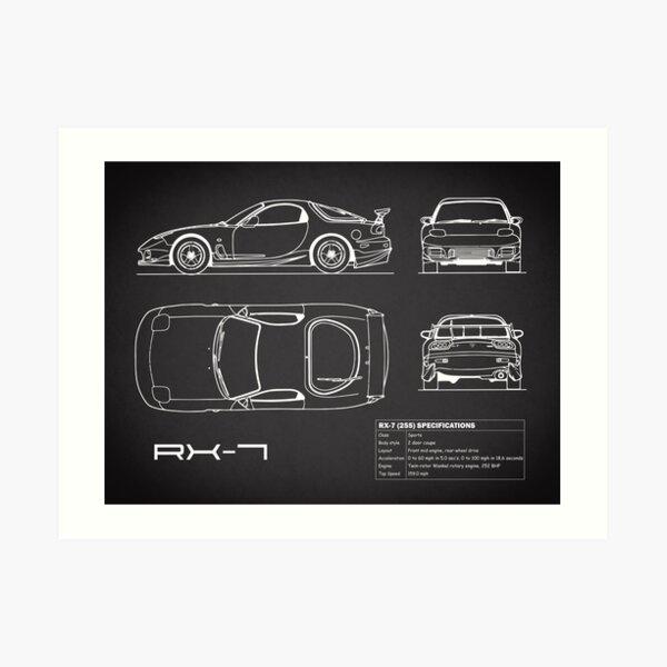 RX-7 Blueprint Impression artistique