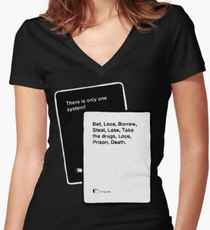 Black Books System Fitted V-Neck T-Shirt