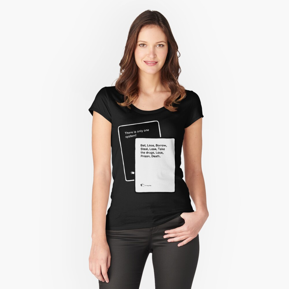 Black Books System Fitted Scoop T-Shirt