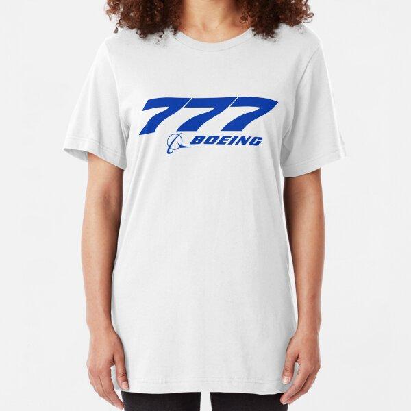 Boeing 777 Logo Slim Fit T-Shirt