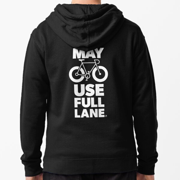 May Use Full Lane Zipped Hoodie