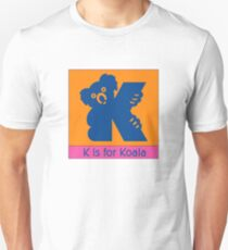 Koala Bear Animal Alphabet Unisex T-Shirt