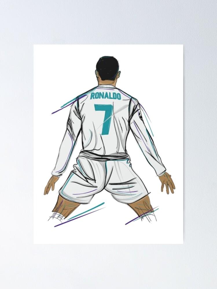 Cristiano Ronaldo Goal Pose Poster By Caspern Redbubble