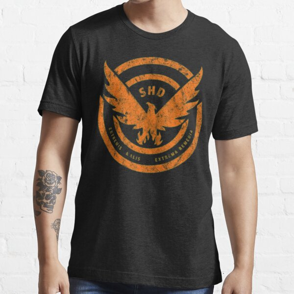 The Division SHD Logo Distressed Orange Essential T-Shirt