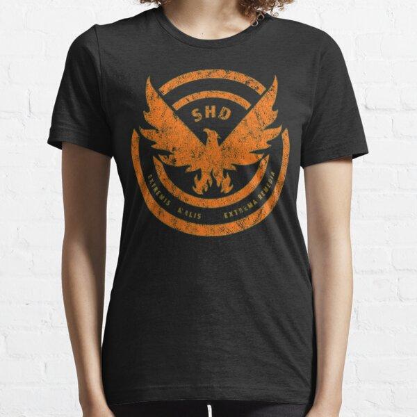 The Division SHD Logo Distressed Orange Essential T-Shirt