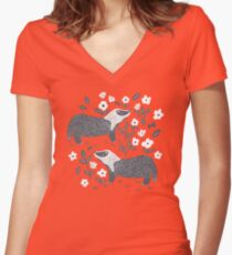 Badgers Fitted V-Neck T-Shirt