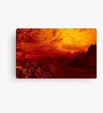 Just Another Bloody Sunset Canvas Print