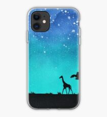 Elefant und Giraffe Silhouette iPhone-Hülle & Cover