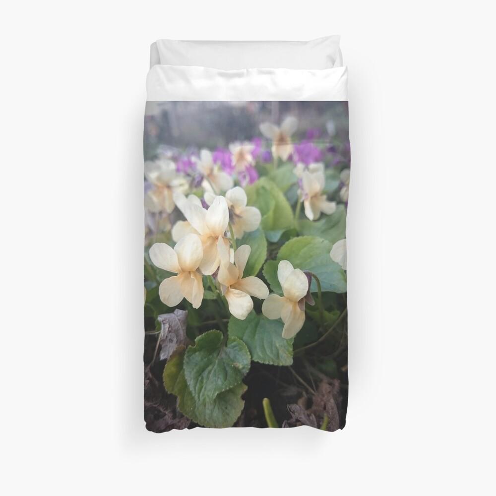 Veilchen in Blüte Bettbezug