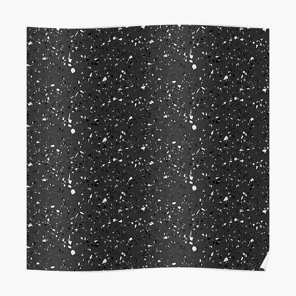 Black rubber flooring Poster