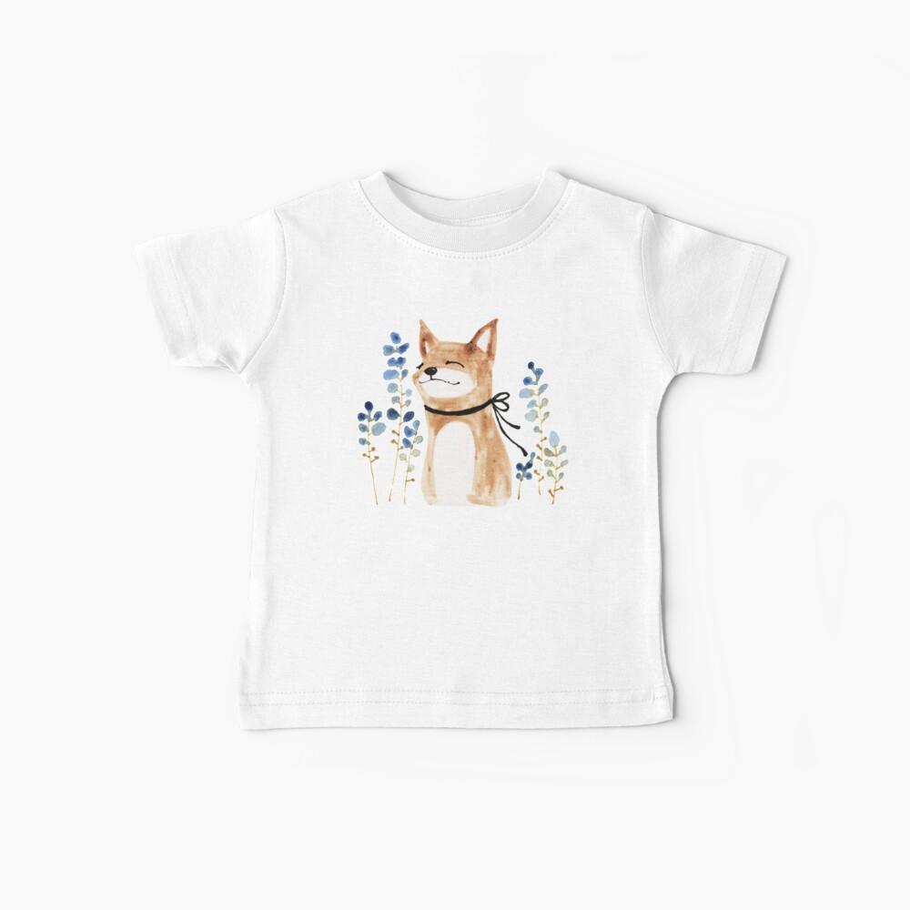 Fox and Flower Baby T-Shirt