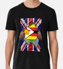 Zimbabwean Flag Ripped - Born In United Kingdom Roots From Zimbabwe Männer Premium T-Shirts