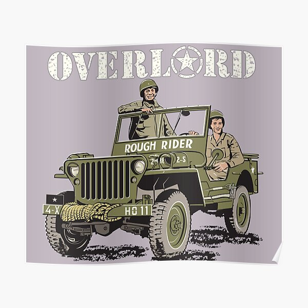 D-DAY Operation Overlord, Rough Rider Jeep  Poster