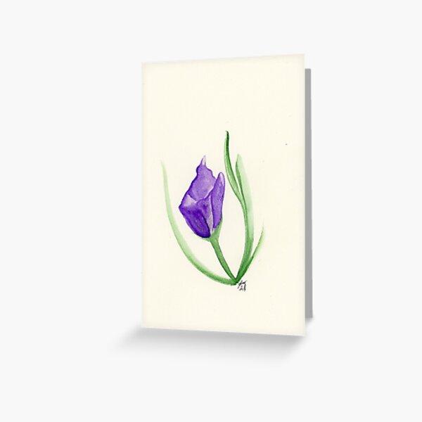 Spring Flower in Purple Greeting Card