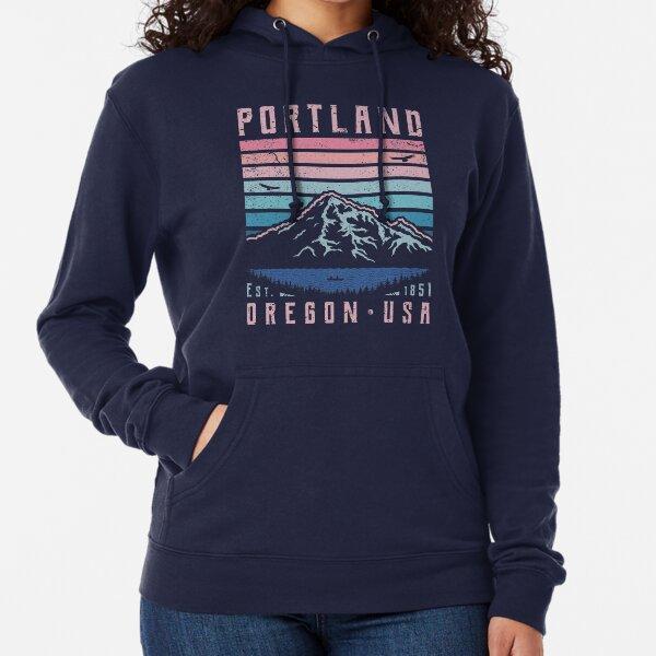 Portland Oregon Retro Lightweight Hoodie