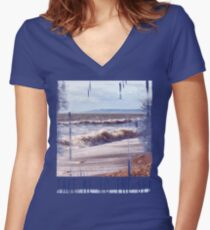 Take Me to the Sea Women's Fitted V-Neck T-Shirt