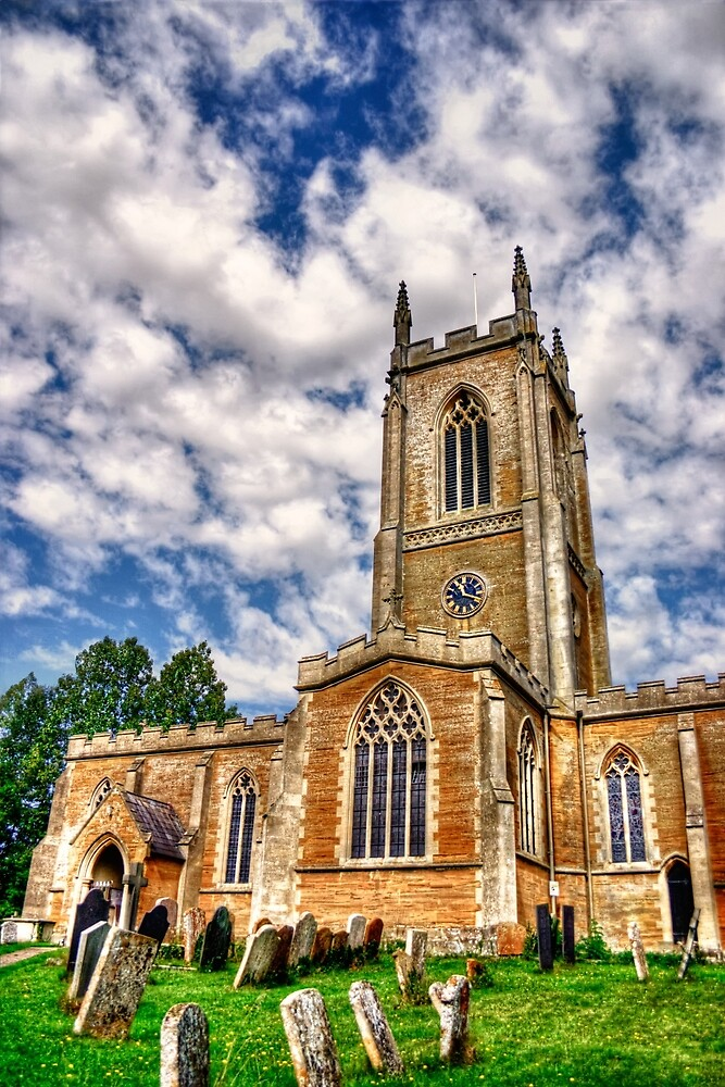 Orlingbury church HDR art  by Vicki Field